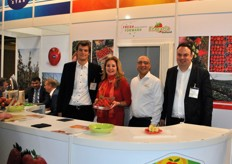 Koen Merkus, Ingrid van der Bogt, Ashraf Abdel Fattah en Stephan Geerlings van Fresh Forward Marketing / Fragaria Holland