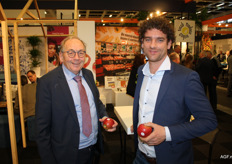 Fruithandelaren Jan Timmermans en Rene Wellner