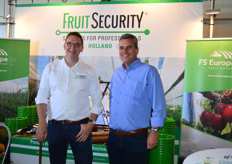 Gerben van Veldhuizen en Frank van Rijk van Fruit Security FS Europe.